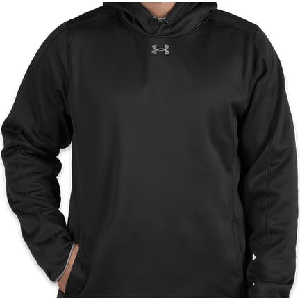 ec29990fc826 ... Under Armour Double Threat Armour Fleece® Hoodie - Color  Black   Steel  ...
