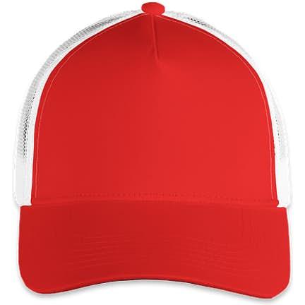 c0725432faf85 ... Sport-Tek Posicharge Competitor Mesh Back Cap - Color  True Red  White