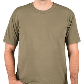Soffe Military 50/50 USA T-shirt - Color: Tan