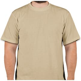 Soffe Military Performance Blend T-shirt - Color: Sand