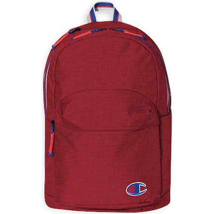 c15adaa25aff39 ... Champion Varsity Stripe Heathered Backpack - Color  Heather Bright Red  Scarlet ...