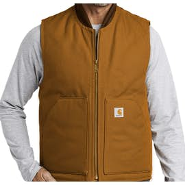 Carhartt Duck Traditional Vest - Color: Carhartt Brown