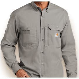 Carhartt Force Ridgefield Button Down Shirt - Color: Asphalt