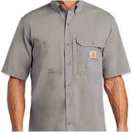 Carhartt Force Ridgefield Short Sleeve Casual Shirt - Color: Asphalt