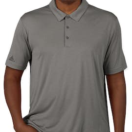 Adidas Heather Performance Polo - Color: Black Heather