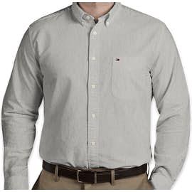 Tommy Hilfiger England Solid Oxford Shirt - Color: Heather Grey