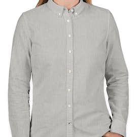 Tommy Hilfiger Women's England Solid Oxford Shirt - Color: Heather Grey