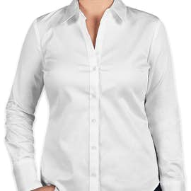 Calvin Klein Women's Cotton Stretch Shirt - Color: White