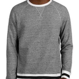 J. America Varsity Crewneck Sweatshirt - Color: Pepper/Black