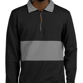 Charles River Quad Pullover - Color: Black / Grey
