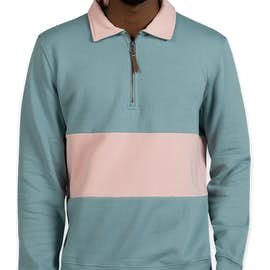 Charles River Quad Pullover - Color: Bay / Pale Pink