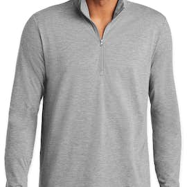 Sport-Tek Tri-Blend Quarter Zip Performance Shirt - Color: Light Grey Heather
