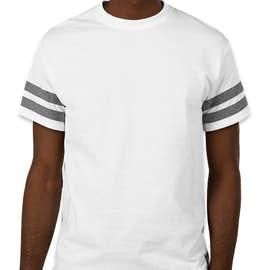 Gildan Varsity T-shirt - Color: White / Graphite Heather