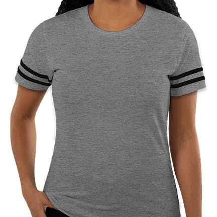 fa55427c8 ... Gildan Women's Varsity T-shirt - Color: Graphite Heather / Black ...