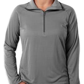 Under Armour Women's Tech Stripe Quarter Zip Pullover - Color: Graphite