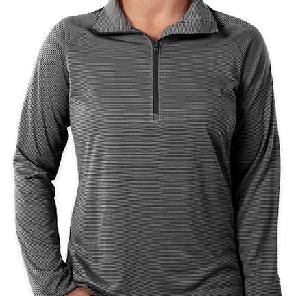 3d65273a ... Under Armour Women's Tech Stripe Quarter Zip Pullover - Color: Black ...