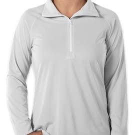 Under Armour Women's Tech Stripe Quarter Zip Pullover - Color: White