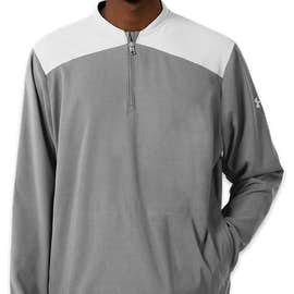 Under Armour Corporate Tech Quarter Zip Pullover - Color: Steel / White