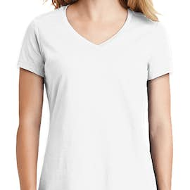 New Era Women's Heritage Blend V-Neck T-shirt - Color: White