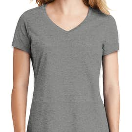 New Era Women's Heritage Blend V-Neck T-shirt - Color: Shadow Grey Heather