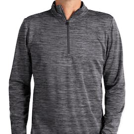 Russell Athletic Dri Power® Quarter Zip Performance Pullover - Color: Black
