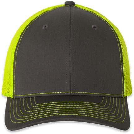 3ace3fe846beeb ... Richardson Snapback Trucker Hat - Color: Charcoal / Neon Yellow ...