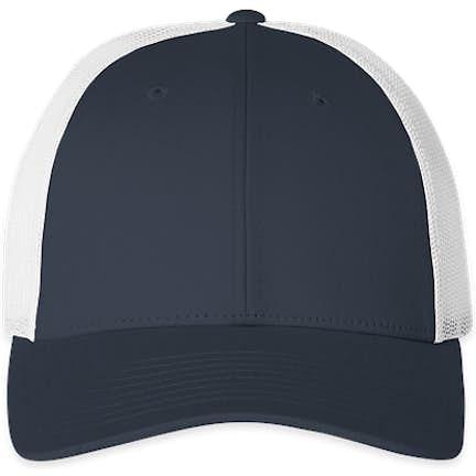 cf698d4d807c9 ... Richardson Low Profile Trucker Hat - Color  Navy   White ...