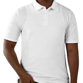 Hanes X-Temp® Fresh IQ Pique Polo - Color: White
