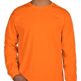 Gildan Ultra Cotton Long Sleeve T-shirt - Color: Safety Orange