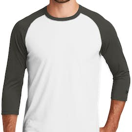 New Era Heritage Blend Baseball Raglan - Color: Graphite / White