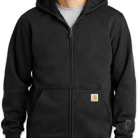 Carhartt Rain Defender Paxton Heavyweight Zip Hoodie - Color: Black