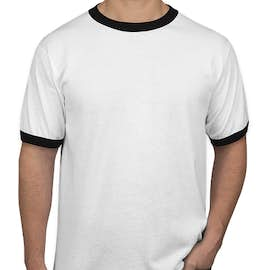 Augusta Ringer T-shirt - Color: White / Black