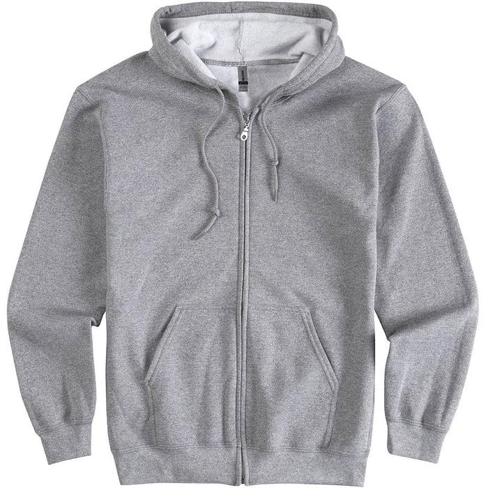 01542b13 Design Custom Printed Gildan Zip Front Hoodies Online at CustomInk