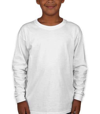 Gildan Youth Ultra Cotton Long Sleeve T-shirt - White
