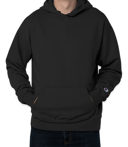Champion Garment Dyed Pullover Hoodie - Black