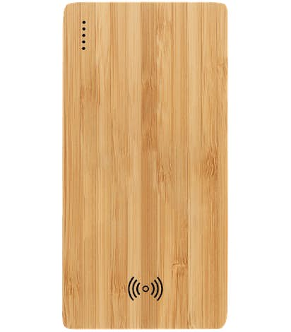 Laser Engraved Plank 5,000 mAh Bamboo Wireless Power Bank - Wood