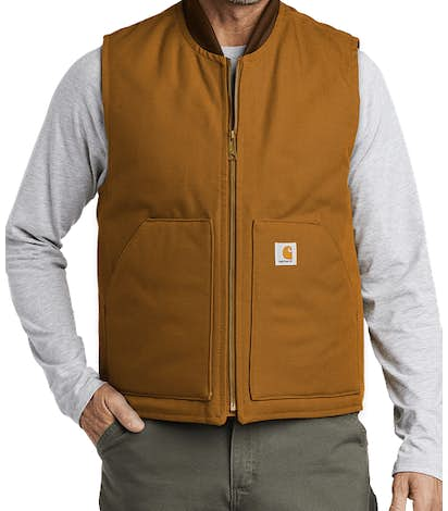 Carhartt Duck Traditional Vest - Carhartt Brown