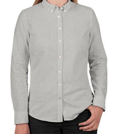 3c50e2a9 Custom Tommy Hilfiger Women's England Solid Oxford Shirt - Design ...