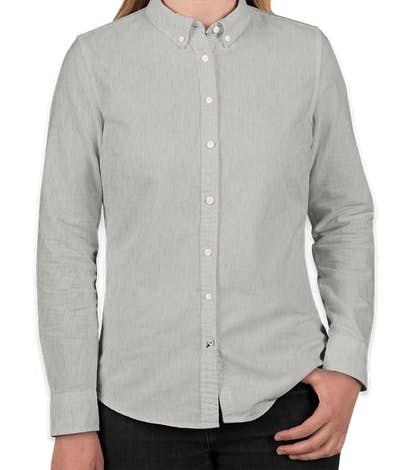 Tommy Hilfiger Women's England Solid Oxford Shirt - Heather Grey