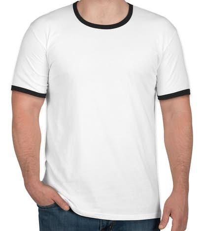 Next Level Ringer T-shirt - White / Black