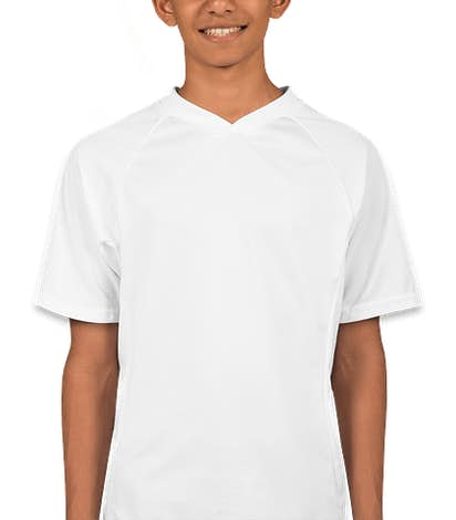 Augusta Youth Colorblock Performance Jersey - White