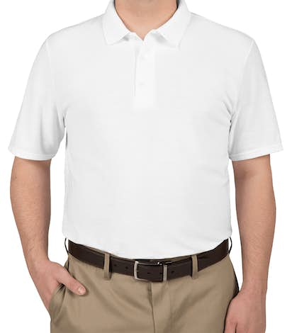 Gildan Dryblend Double Pique Polo - White