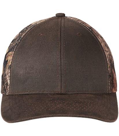 Port Authority Pigment Dyed Camo Trucker Hat - Kryptek Highlander/ Brown