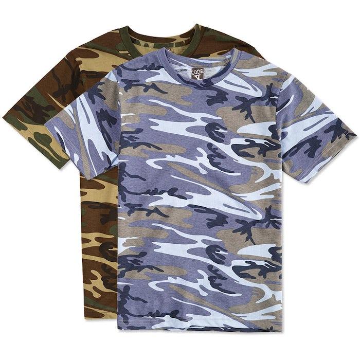 68f1284e9fb Custom Code 5 Camo T-shirt - Design Short Sleeve T-shirts Online at ...