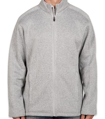 Devon & Jones Full Zip Sweater Fleece Jacket - Grey Heather
