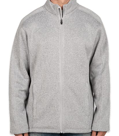 Devon & Jones Full Zip Sweater Fleece Jacket - Grey Heather