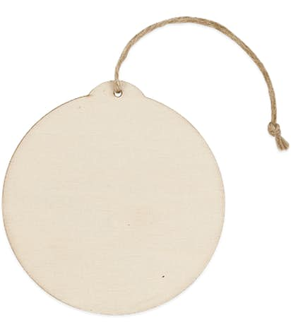Round Wood Ornament - Natural