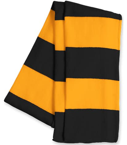 Sportsman Rugby Knit Scarf - Black / Gold