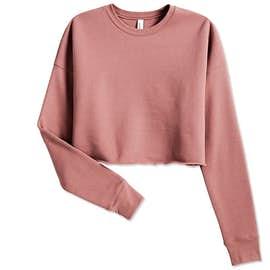 Bella + Canvas Women's Drop Shoulder Cropped Crewneck Sweatshirt