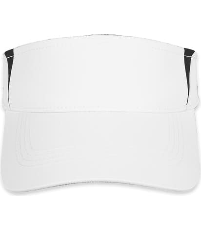 Sport-Tek Colorblock Performance Visor - White / Black